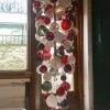 red grey white Hand Blown Glass Chandelier
