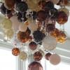 Wide European blown glass split level bubble hand crafted bedroom London Chandelier (7)