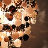 glass bauble lounge Chandelier dining room Bespoke Chandelier made to order hand blown glass neutral colours Glass Chandeliers glass sphere lounge Modern Glass (8)