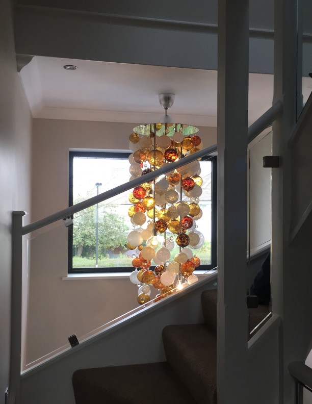 Sculptural Unique Glass Ball Lighting Chandelier