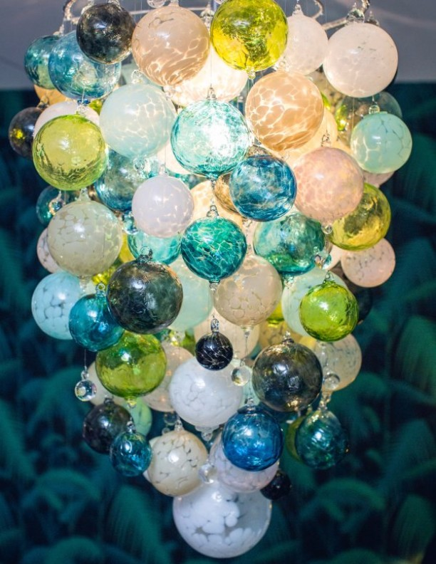 Modern London Glass Chandeliers split level hallway round glass Bespoke Chandeliers mouth blown glass Long Big Designer (19)