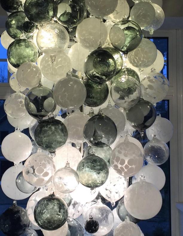 grey alabaster neutral glass chandelier