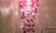 pink fuchsia bright pink tones multi colour glass sphere lighting