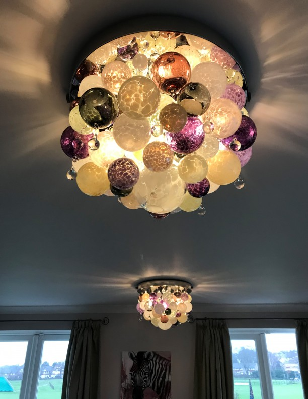 ORIGIN 55 x 42 pair of petite chandeliers