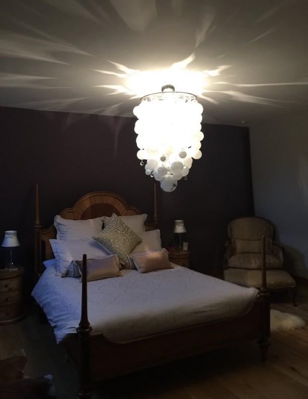 ORIGIN white neutral glass sphere chandelier luxury