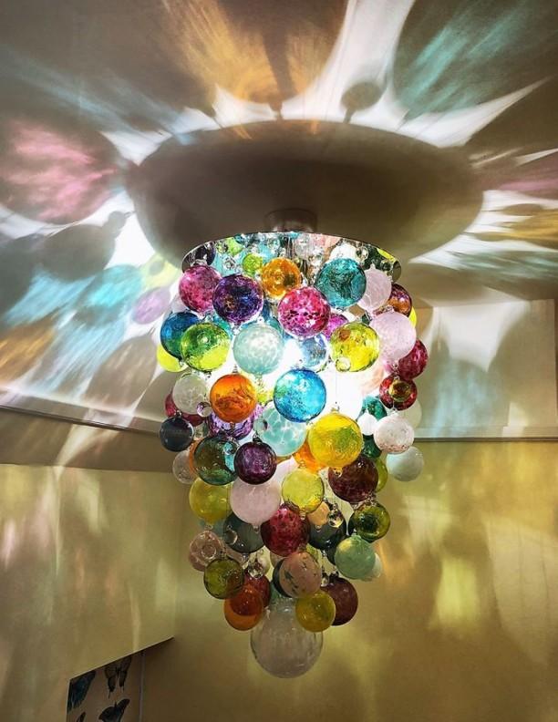 ORIGIN multi colour glass sphere lighting