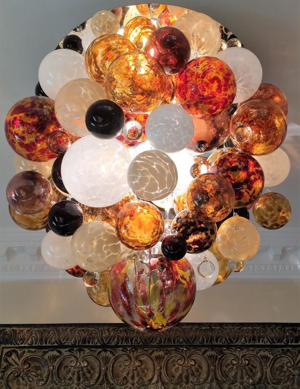Amber Hues Cluster Chandelier
