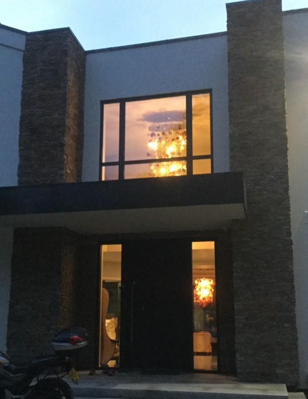 Cascade Exterior Bespoke Chandelier Contemporary and Modern