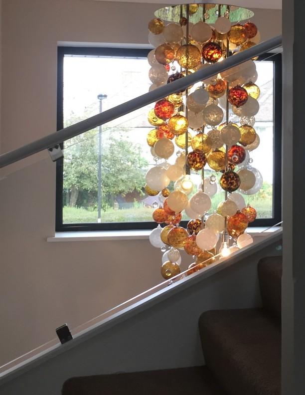 Sculptural Unique Glass Ball Lighting Chandelier