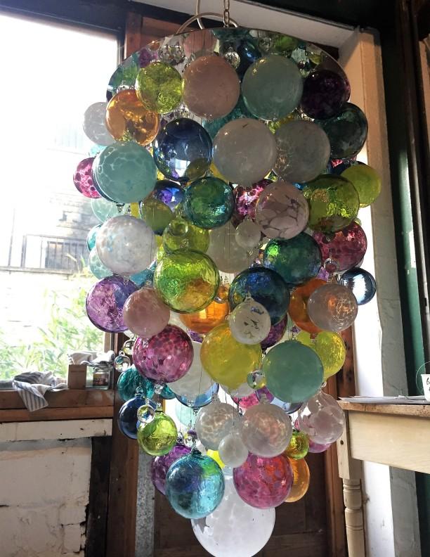 multi colour glass sphere lighting